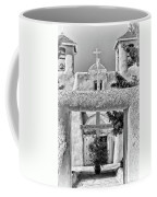 Gate To Ranchos Church Black And White Coffee Mug