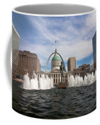 Gateway Arch And Old Courthouse In St. Louis Coffee Mug