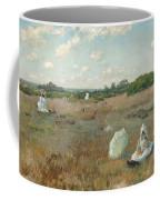 Gathering Autumn Flowers By William Merritt Chase Coffee Mug
