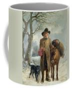 Gathering Winter Fuel  Coffee Mug by John Barker