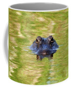 Gator In The Green - Digital Art Coffee Mug