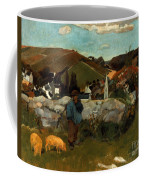 Gauguin: Swineherd, 1888 Coffee Mug