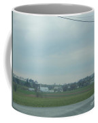Gazing At A Scenic Amish Vista Coffee Mug