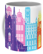Gdansk Skyline Pop Coffee Mug