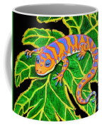 Gecko Hanging On Coffee Mug