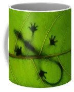 Gecko On A Leaf Coffee Mug