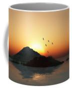 Geese And Sunset Coffee Mug