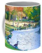 Geese In Pond 3 Coffee Mug