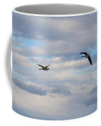 Geese In The Clouds Coffee Mug