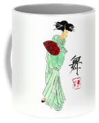 Geisha Girl Dancing Coffee Mug