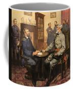 General Grant Meets Robert E Lee  Coffee Mug by English School