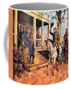 General Lee And His Horse 'traveller' Surrenders To General Grant By Mcconnell Coffee Mug