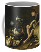 Genre Scene Of A Seated Boy With Bat Coffee Mug