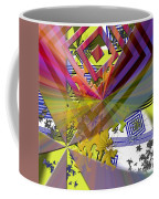 Geometric Rays Happiness Coffee Mug