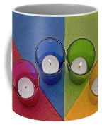 Geometrical Shapes, Colours And Candles Coffee Mug