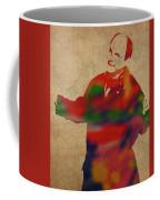 George Constanza Of Seinfeld Watercolor Portrait Coffee Mug