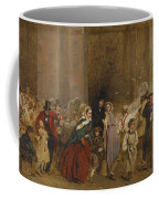 George Elgar Hicks   Sketch Of The General Post Office  One Minute To Six  1860 Coffee Mug