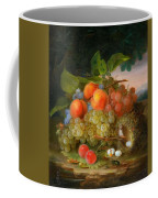 George Forster  Still Life With Fruit And A Birds Nest Coffee Mug