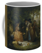 George Morland   The Anglers  Repast Coffee Mug
