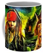 George Washington And Abraham Lincoln The Pirates Coffee Mug