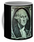 George Washington In Light Green Coffee Mug
