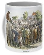 George Whitefield /n(1714-1770). English Evangelist, Preaching To A Crowd: Engraving, 19th Century Coffee Mug