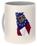 Georgia Map Art With Flag Design Coffee Mug