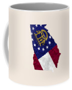 Georgia Map Art With Flag Design Coffee Mug