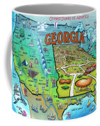 Georgia Usa Cartoon Map Coffee Mug
