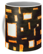 Geosequence In Black And Copper Coffee Mug