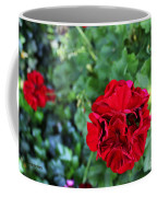 Geranium Flower - Red Coffee Mug