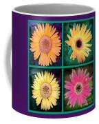 Gerbera Daisy Collage In Square Coffee Mug