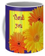 Gerbera Daisy Thank You Card Coffee Mug