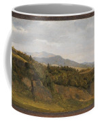 German Landscape With View Towards A Broad Valley , Fritz Petzholdt Coffee Mug