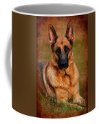 German Shepherd Dog Portrait  Coffee Mug by Angie Tirado