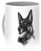 German Shepherd Head Coffee Mug