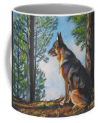 German Shepherd Lookout Coffee Mug by Lee Ann Shepard