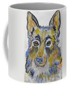 German Shepherd Painting Coffee Mug