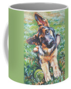 German Shepherd Pup With Ball Coffee Mug
