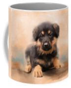 German Shepherd Puppy Portrait Coffee Mug