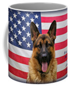 German Shepherd - U.s.a. - Text Coffee Mug