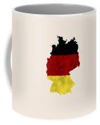 Germany Map Art With Flag Design Coffee Mug