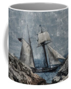 Getting Close To The Rocks Coffee Mug