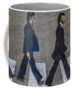Ghosts Of Abby Road Coffee Mug by Debra and Dave Vanderlaan