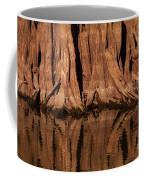 Giant Cypress Tree Trunk And Reflection Coffee Mug