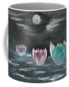 Giant Lilies Upon Misty Waters Coffee Mug