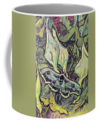 Giant Peacock Moth On Arum Coffee Mug