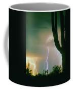 Giant Saguaro Cactus Lightning Storm Coffee Mug