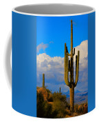 Giant Saguaro In The Southwest Desert  Coffee Mug
