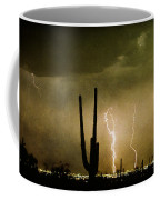 Giant Saguaro Southwest Lightning  Peace Out  Coffee Mug